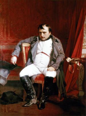 Císař Francouzů Napoleon I. Bonaparte, po své první abdikaci roku 1814