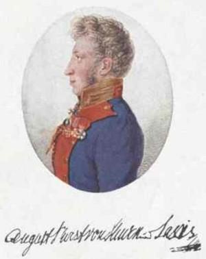 Pražský rodák August Maria kníže Thurn-Taxis byl během Blücherova tažení roku 1815 v jeho štábu, jakožto bavorský přidělenec