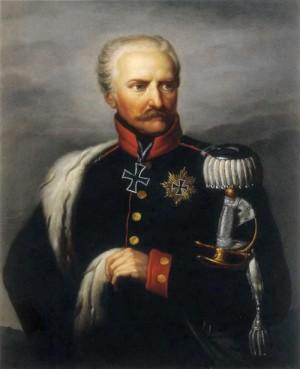 Pruský polní maršál Gebhard Leberecht von Blücher, kníže z Wahlstattu