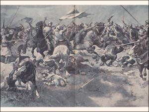 Bitva u Malešova dle představy Věnceslava Černého