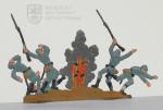 Francouzští pěšáci zasažení granátem – 1915