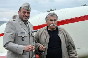 Ředitel VHÚ plukovník Aleš Knížek a Jan Klaban
