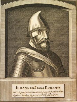 Jan Žižka na vyobrazení ze 17. stol.