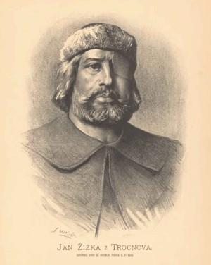 Jan Žižka na vyobrazení z 19. stol.
