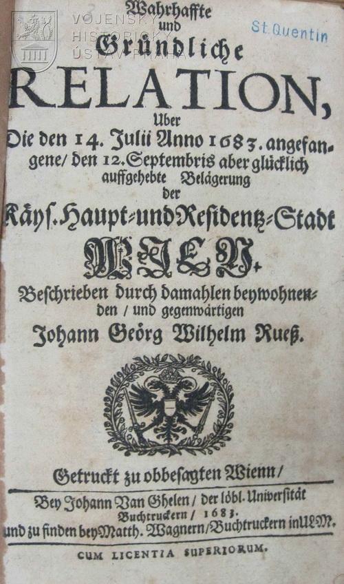 RUESS, Johann Georg Wilhelm. Wahrhaffte und Gründliche Relation