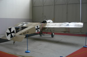 Replika Fokkeru E.III v Leteckém muzeu Kbely