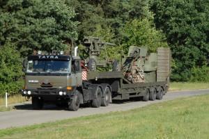 Příjezd konvoje do Lešan