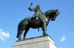 Husité brání Vítkov, odhalení Žižkovy sochy