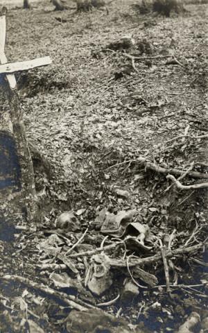 """V červenci 1918 vyslal náhradní prapor pěšího pluku č. 28 do oblasti Stebnícké Huty nadporučíka Antonína Opravila, aby obhlédl stav bojiště a na tamních hřbitovech pátral po padlých příslušnících pluku. V místech, kde sám zažil inkriminovaný ruský útok, objevil  pozůstatky těl dvou nepohřbených vojáků, označených křížem. U jednoho z nich barva výložkového sukna na zbytcích stejnokroje potvrzovala, že patřil k """"Osmadvacátníkům"""", a tak svůj nález vyfotografoval."""