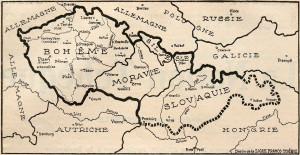 Od června 1915 se tato mapa budoucího československého státu stala motivem otiskovaným v každém čísle La Nation Tchéque. Francouzská veřejnost si měla postupně zvykat na odvážnou představu rozbití Rakouska-Uherska. Přesvědčit dohodové státníky, aby souhlasili s vytvořením samostatného československého státu na půdě Rakouska-Uherska, to byl hlavní a nelehký úkol zahraniční odbojové akce. Zvlášť v době, kdy se vojenská situace Dohody během léta a podzimu 1915 rapidně zhoršila.