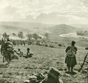 Ústup České družiny z Karpat v létě 1915. Poté, co se v zimě 1914/1915 mnozí z dobrovolníků viděli už jen krůček od osvobozené vlasti, zavládla v jejich řadách během letního ústupu velká deziluze. Rusko sice nebylo poraženo, ale konec války se vzdálil do nedohledna.