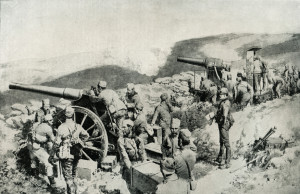 Heroický boj srbských dělostřelců proti útočící přesile přinesla propagační ilustrace otištěná v britském tisku. Těžký válečný úděl Srbska vyvolal u veřejnosti dohodových států vlnu sympatií.