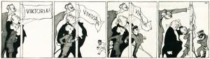 Karikatura ve vídeňském humoristickém časopise se vysmívala snahám Dohody o dosažení vítězství v roce 1915. Ve skutečnosti však na sklonku roku docházel dech bez rozdílu všem zúčastněným.