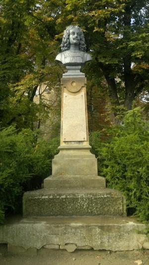 Brněnský pomník s bustou Jeana Louise Raduita de Souches