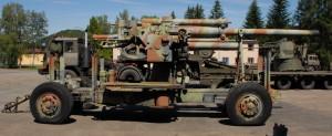 10,5cm protiletadlový kanón Bofors m/42