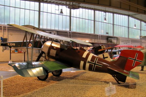 Pohled na řadu replik strojů z 1. světové války. FOTO: Ivo Pejčoch