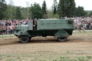 Obrněný automobil VKP m/42 dovezený ze Švédska