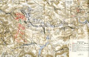 Mapa bitvy u Žďáru.
