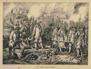 Obránci vídeňské pevnosti.