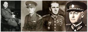 Generálové Josef Bílý Sergěj Jan Ingr Sergěj Vojcechovský a Hugo Vojta