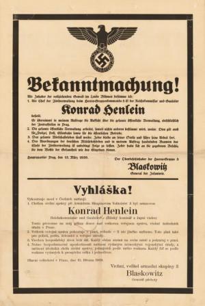 Rozkaz pro obyvatele z 15. 3. 1939