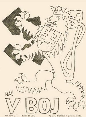 Titulní strana ilegálně vydávaného odbojového časopisu z roku 1940