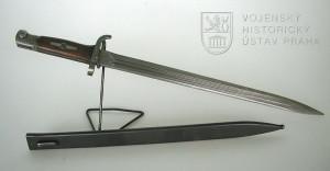 Československý bodák k pokusnému vzoru opakovačky Mauser-Jelen