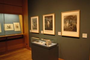 Závěr výstavy patří rytinám francouzských výtvarníků, kteří zachytili Napoleona jako císaře. Ve vitríně je vystavena rovněž jeho posmrtná maska. FOTO: Jaroslav Beránek