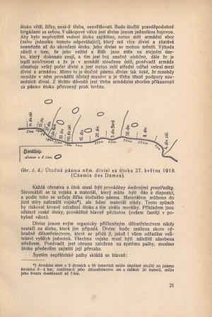 Schéma útočných pásem německých divizí u Chemin des Dames.