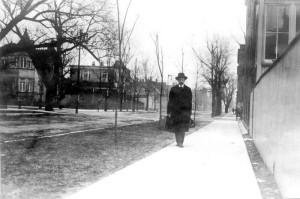 Snímek Vojty Beneše v USA v době první světové války