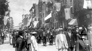 Slavnost československých krajanů v USA za první světové války