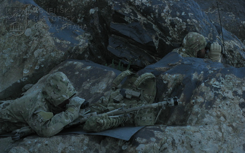 Tým ostřelovačů z průzkumného odřadu 7. PRT Lógar