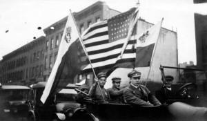 Manifestace na podporu čs. samostatnosti v New Yorku za první světové války