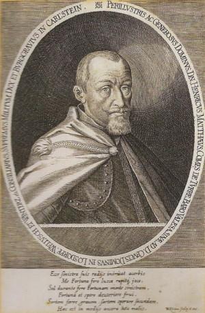 Generál-lajtnant českých stavů Jindřich Matyáš hrabě Thurn.
