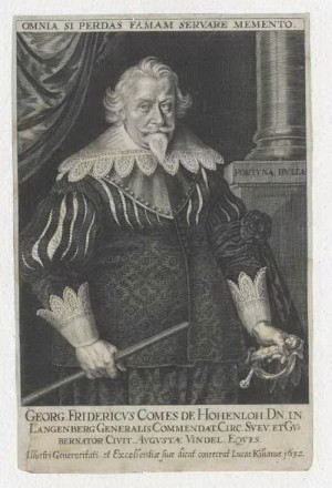 Stavovský generál lajtnant Jiří Friedrich hrabě Hohenlohe-Neuenstein