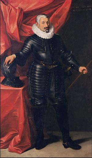 Vrchní velitel vojska katolické ligy Johann Tserclaes hrabě Tilly.