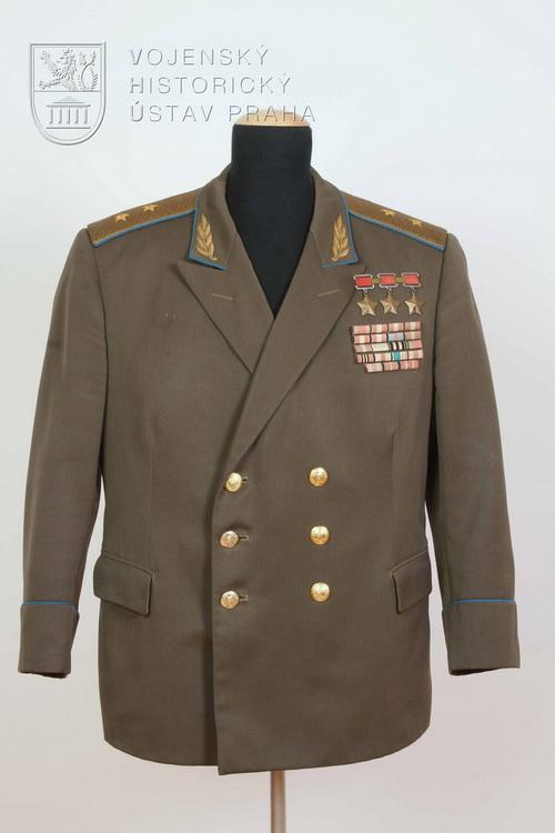 Sovětská blůza generálporučíka letectva, 1975