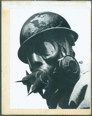Peter Kennard: Válečná hlavice, 1981.  FOTO: © Peter Kennard