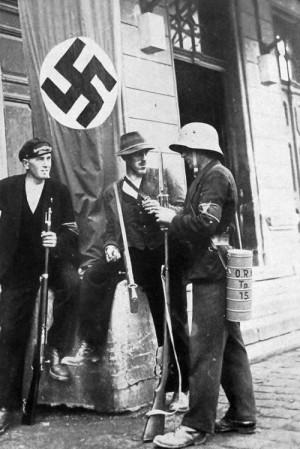 Příslušníci sudetoněmeckého Freikorpsu