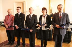 Zleva: J. Láník, J. Plachý, D. Povolný., L. Schulzová a K. Straka