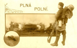 Vojenská pohlednice z období, kdy se vnější stránka unifikace již stala realitou. Archiv K. Straky