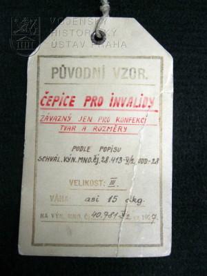 Čepice pro invalidy, 1928