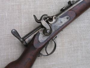Pohled na střední část pušky před restaurováním. Foto Petr Moudrý