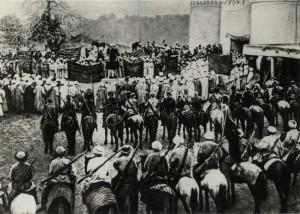 Rudá armáda v dobyté Buchaře, 2. září 1920. Foto sbírka VHÚ.