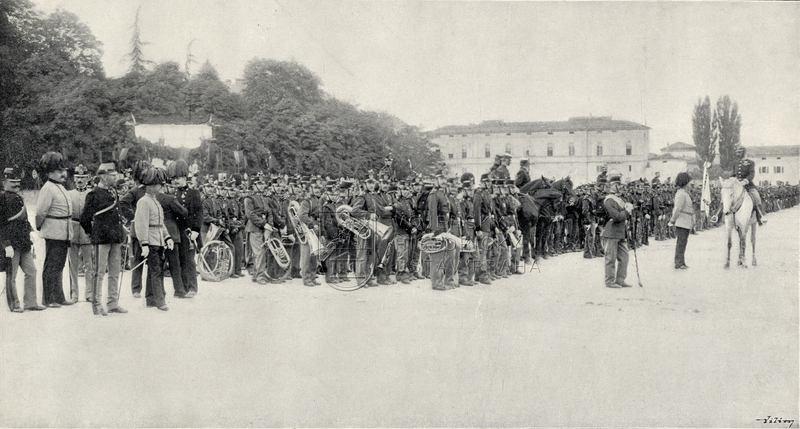 Plukovní slavnost 28. pěšího pluku v Tridentu roku 1898