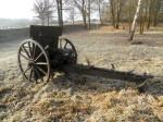 Konzervátorský a restaurátorský zásah – 7,5cm polní kanón d/29 vzor 1911
