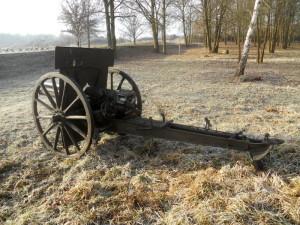 Restaurátorský proces v dílnách VHÚ - VTM Lešany: 7,5cm polní kanón d/29 vzor 1911