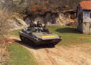 Patrola na bojovém vozidle pěchoty BVP 2.