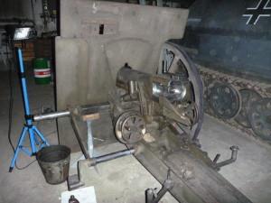 Restaurátorský proces: v dílnách VHÚ - VTM Lešany: 7,5cm polní kanón d/29 vzor 1911