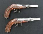 Pár terčových pistolí s perkusním zámkem, J. Polák, Panenský Týnec, polovina 19. století